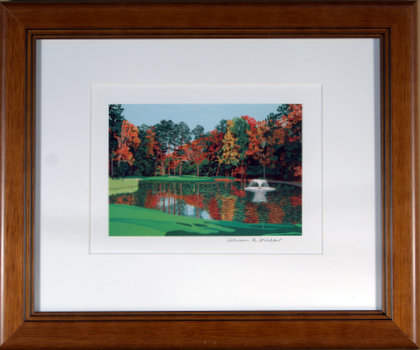 Duke University Golf Course Framed Mini Print - Steven Ray Miller